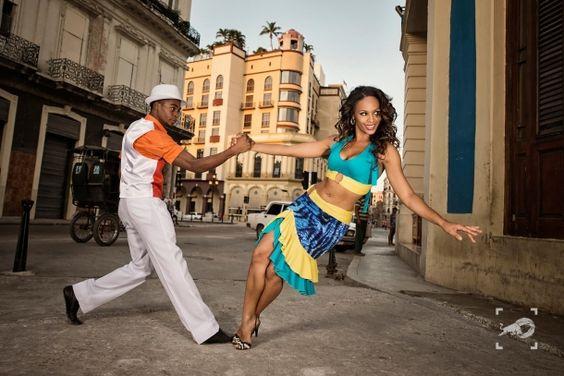 A couple dancing Rumba in Havana
