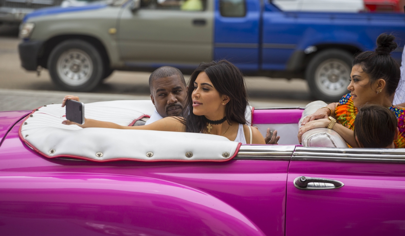 Kim Kardashian and Kanye West in Havana